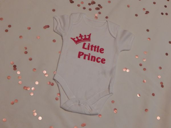 Little Prince Personalised Baby Vest